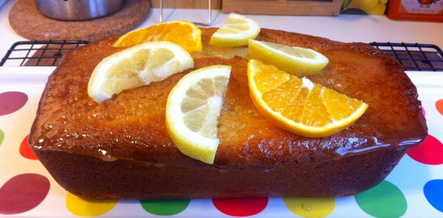 Whipped Cream Pound Cake with Citrus Icing