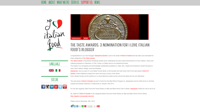 Thanks to I Love Italian FooD... And Remember To Vote And Share :)