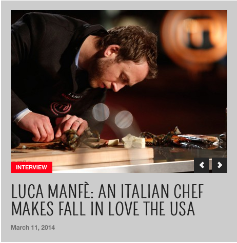Interview With Luca Manfre' In Collaboration With I Love Italian Food