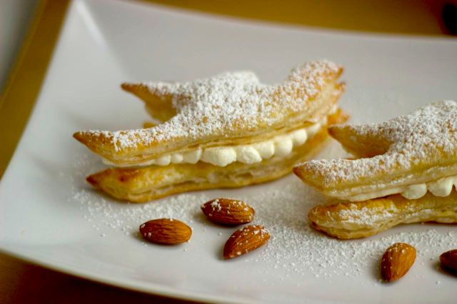 Puff Pastry Doves With Chantilly Cream