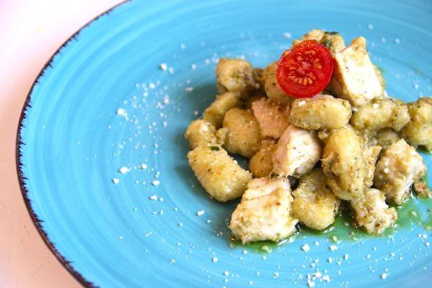 Water Gnocchi With Swardfish And Pistachio Pesto