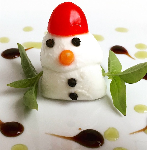 snowman-caprese