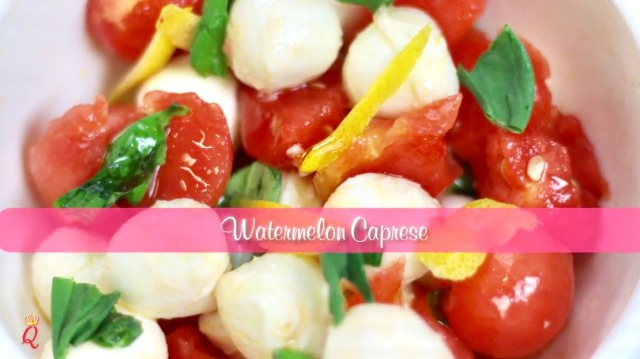 A Queen In The Kitchen: How To Make Watermelon Caprese