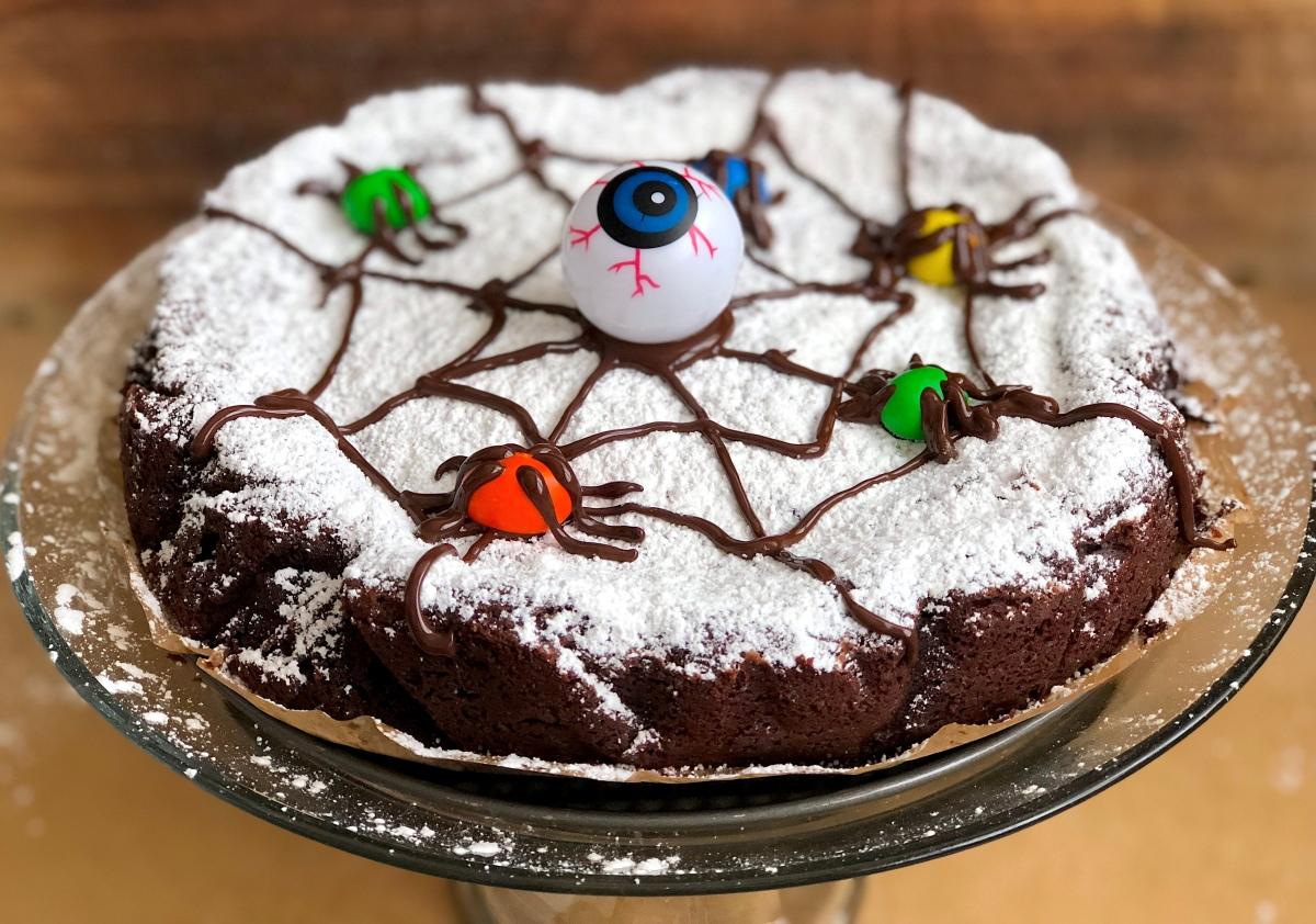 Spider Web Chocolate Cake…Happy Halloween!!!
